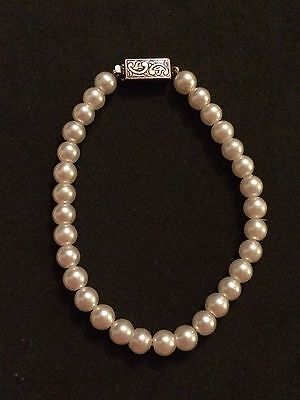 Vintage Pearl Bracelet With Sterling Silver Box Clasp