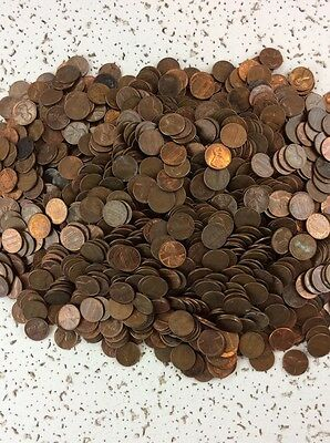 43 Pounds Lincoln Copper Bullion  Pennies Unsearched For Errors