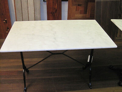 WHITE MARBLE TOP Outdoor- Indoor Table 100x60cm Delivered Sydney SEATS 4