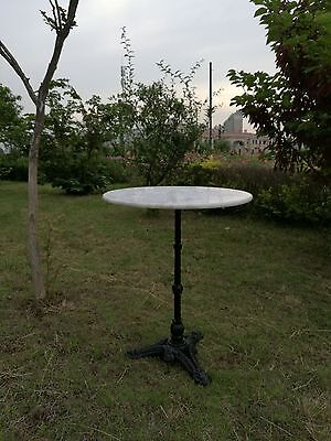 Round White Marble Top Table 60cm Patio / Occasional Size DELIVERED EAST COAST**
