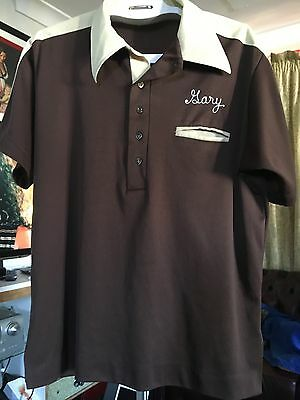 King Louie Bowling Shirt Rockabilly 50's Greaser Original Size L