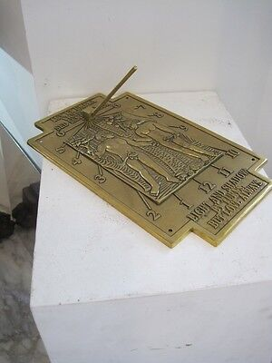 Versatile BRASS SUNDIAL - Use on a Wall, Fence, Plinth or Ground