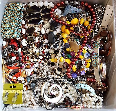 Pounds Of Jewelry~Nothing But Beautiful Costume Jewelry~Lg Priority Box Full!