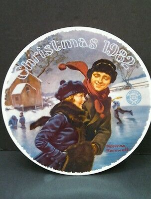"Norman Rockwell's ""Christmas Courtship"", 1982 Christmas Plate, 8.25"" Diameter"