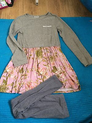 Girls Age 9 Next Outfit Top Leggings