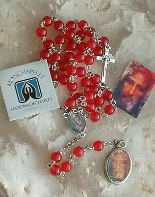Red jade beads Holy Face reparation chaplet