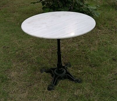 5 Day Sale - White Marble Top Table (Carrera Quality) 80cm wide OUTDOOR / INDOOR