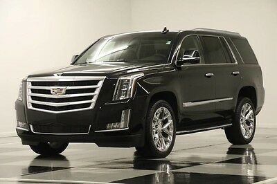 2016 Cadillac Escalade 4X4 Premium DVD GPS Leather Sunroof Black 4WD Like New Navigation Heated Cooled Seats Captains 15 17 2017 16 6.2 Bose Player