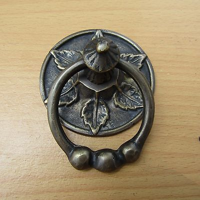"2.75"" Vintage Solid Brass Front Door Knocker with Pull Ring KNOCKER GBY 81"