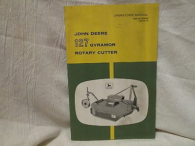 Vintage John Deere Operator's Manual 127 Gyramor Rotary Cutter