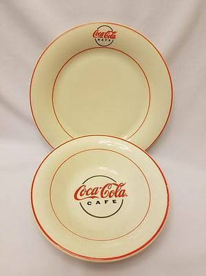 Set of 2 COCA COLA 2000 Gibson Dinner Plate & Salad/Soup