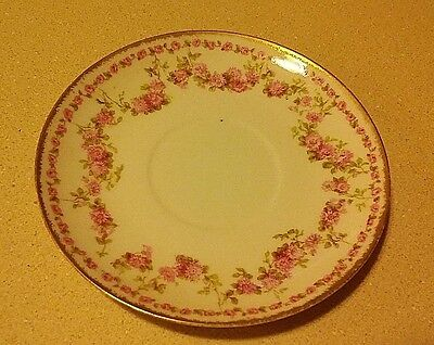 Pretty Haviland Limoges Gda88 Rose Swag Saucer
