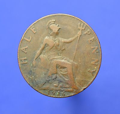 Lot# 8A British Coins: Great Britain 1916 George V Half Penny KM# 809