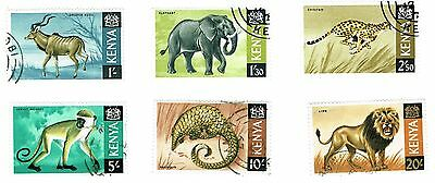 1966 Kenya - Mammals - Complete Set of Six Stamps