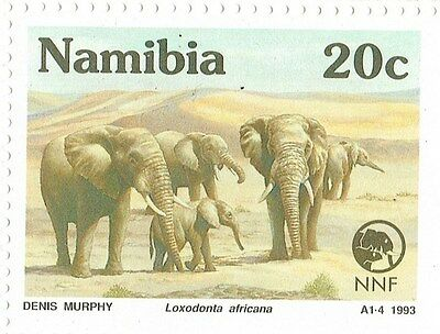 1993 Namibia Nature Foundation - Rare and Endangered Species Minisheet 4 Stamps