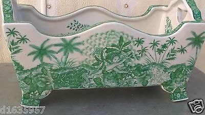 China Antique Green glaze Porcelain Rectangular flower pot by Yongshengtang永胜堂