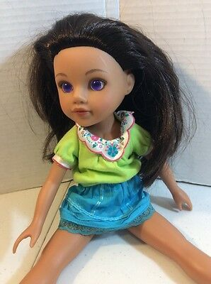 Playmates Hearts for Hearts Doll G to G 2010 Consuela from Mexico Purple Eyes