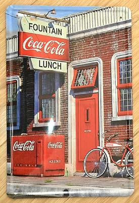 New Fountain Lunch paiting vintage Metal Tin Sign  Wall Decor metal Poster TP174