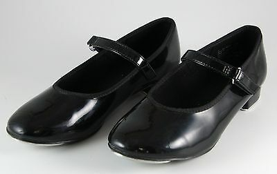 Youth Black American ballet theater Tap shoes with velcro straps  - Size 12