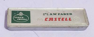 Vintage A.W. Faber Castell Tin Box Advertising Germany jds