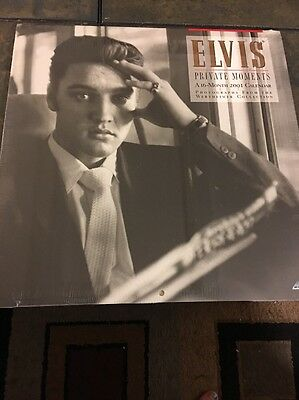 Elvis Private Moments Photos Wertheimer 16 Month 2001 Collectible Calendar Open