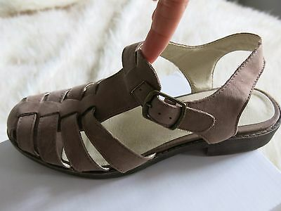 Windsor Smith Octopus Leather Sandals Taupe Brown Size 6