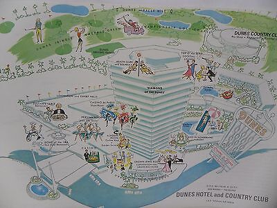 The Dunes Hotel Casino Country Club Las Vegas Property Paper Map Golf Course
