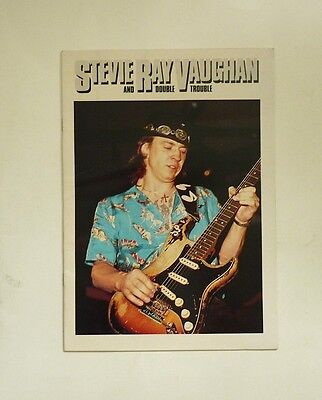 1984 STEVIE RAY VAUGHAN AUSTRALIA TOUR PROGRAM Book COULDN'T STAND THE WEATHER