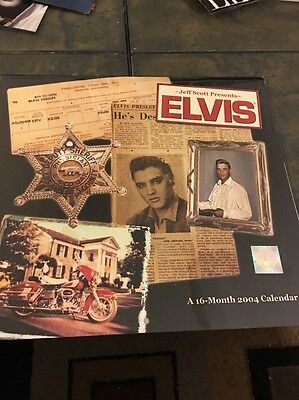 Elvis Presley Jeff Scott16 Month 2004 Collectible Calendar Sealed