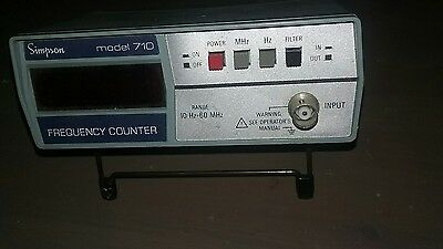 Simpson Model 710 Frequency Counter TESTED