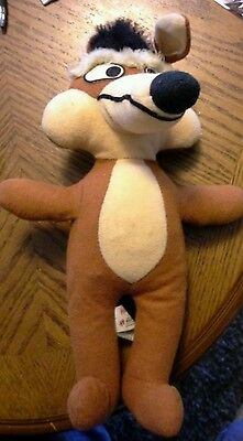"""Vintage 1971 Wile E. Coyote Plush Stuffed Animal Warner Brothers Mighty Star 12"""""""
