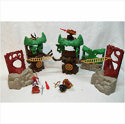 Play Set Imaginext Lost Fortress treehouse figures weapons midievel
