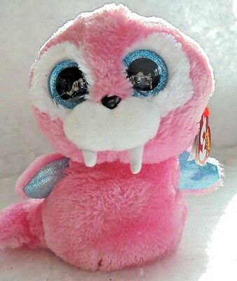 """TUSK Walrus 6"""" Glitter Eyes MWMTS Ty Beanie Boo Collectible Plush Toy +FREE Gift"""