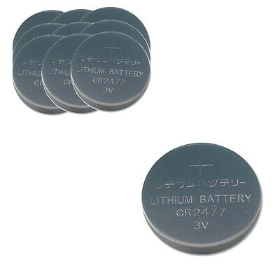 10PCS PKCELL CR2477 3V Lithium Battery DL2477 Button Cell