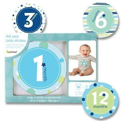 New Pearhead First Year Baby Belly Stickers For Photos 1-12 Months Shower Gift