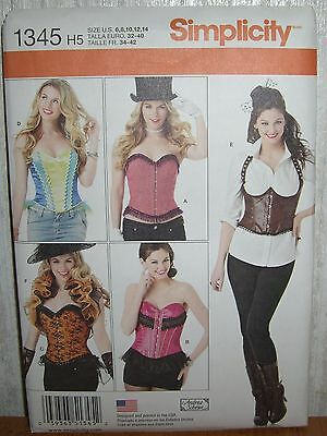 Womens/Misses Corsets & Ruffled Shrug Sewing Pattern/Simplicity 1345/SZ 6-14/N