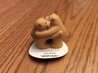 "Sandsational figurine Reunited ""Bear Hug"" brown bears"