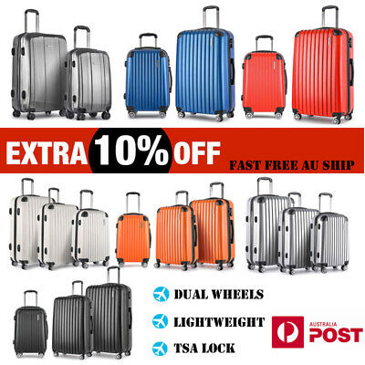 2PCS/3PCS Luggage Suitcase TSA Lightweight Trolley Travel Carry On Bag Hard Case