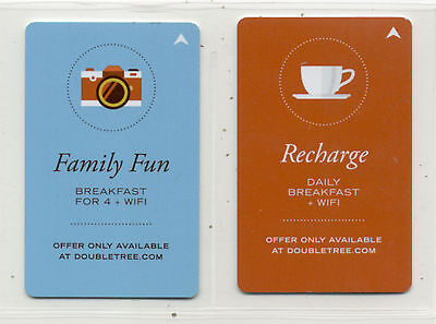 DoubleTree by Hilton 2 Different Hotel Key Cards