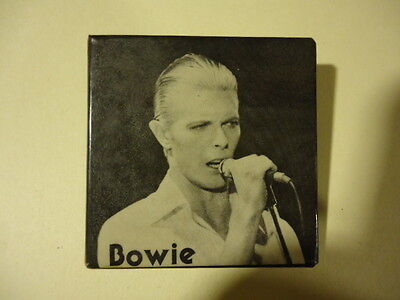 DAVID BOWIE PINBACK BUTTON ...VINTAGE from LATE 70's