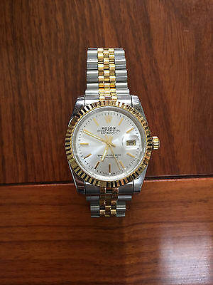 Authentic Rolex White Dial Automatic Oyster Men Watches