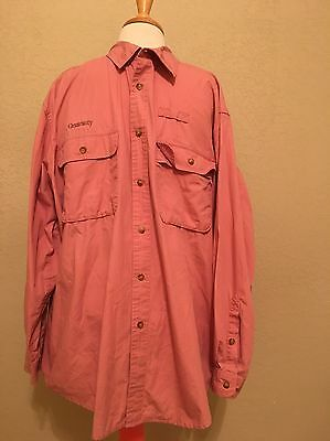 Orvis Large Red Buzz Off Insect Shield Long Sleeve Shirt Outdoors Wear