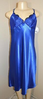 """Vintage Innermost Silky Satin Long Nightgown-Size M-Bust To 38""""-Unworn With Tags"""