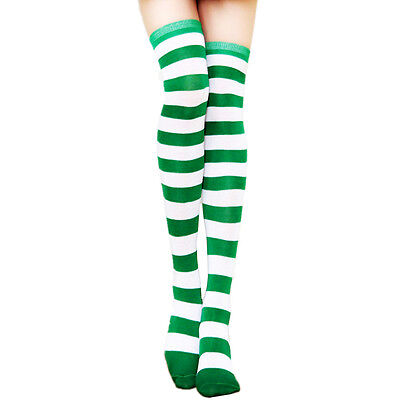 Women Stockings Socks Tights Long Pantyhose Plus Size Nylon Stripe New Hosiery