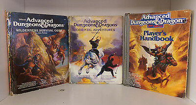 Advanced Dungeons and Dragons Books Lot of 3 TSR 1980's Guides & Adventures