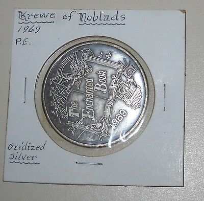 1969  Silver Mardi Gras Doubloon Silver Coin Krew Of Noblads