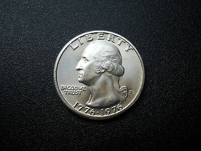 "1976-S WASHINGTON ""40% Silver"" QUARTER (BU)"