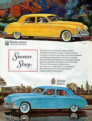 1947 Kaiser-Frazer car ad -Success Story--[-197