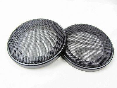 """2PCS 4"""" 116mm ABS Coaxial Steel Speaker Mesh Grille Woofer Mask Protection"""