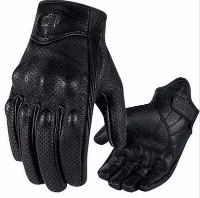 Motorcycle Riding Racing Bike Protective Armor Short Leather Gloves MESH M L XL